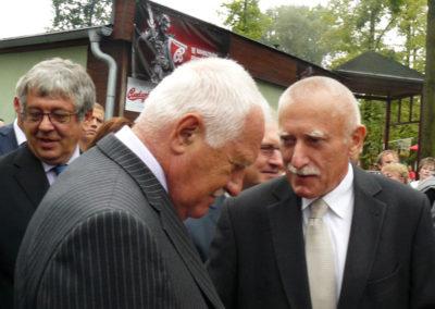 S prezidentem republiky Václavem Klausem na zahájení výstavy Země Živitelka 2012