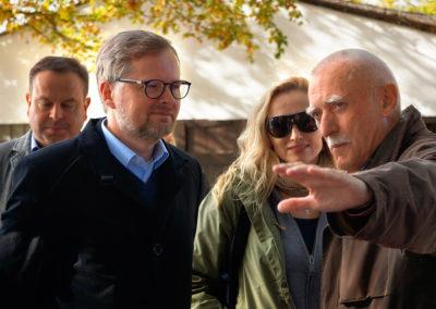 S Petrem Fialou na výlovu Rožmberka