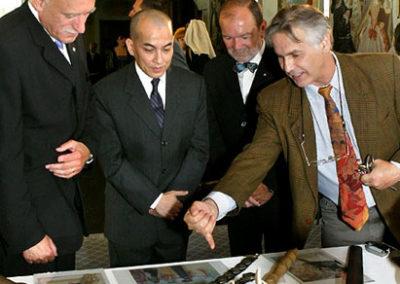 S králem Kambodže Norodomem Sihamonim při jeho návštěvě Českého Krumlova 20. září 2006